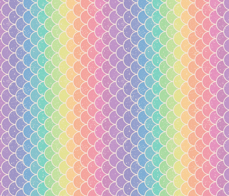 Pastel Rainbow Glitter Scales Vertical Wallpaper Designed
