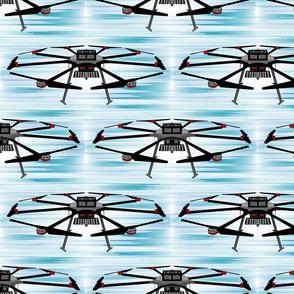 Drone seamless flight blue sewindigo