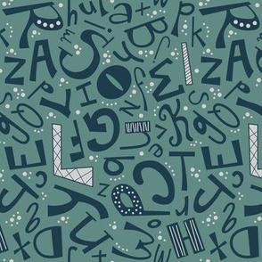 Alphabet Fun Cool (Preppy)