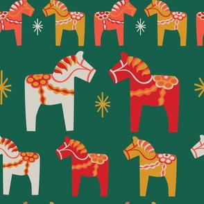 Christmas Dala Horses