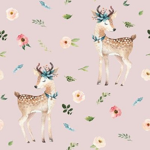 "8"" Boho Floral Deer // Wafer"