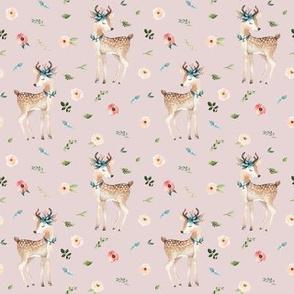 """4"""" Boho Floral Deer // Wafer"""