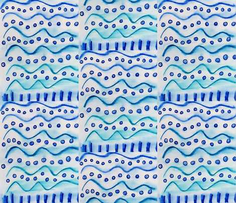 blued. fabric by design_punctuations_by_ashleyvon on Spoonflower - custom fabric