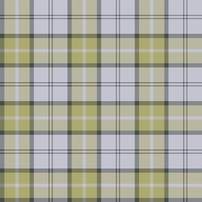 "Dunbar tartan, 6"", custom colorway muted yellow / pale lavender grey"
