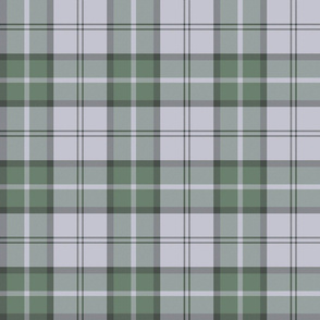 "Dunbar tartan, 6"", custom colorway muted green / lavender grey"
