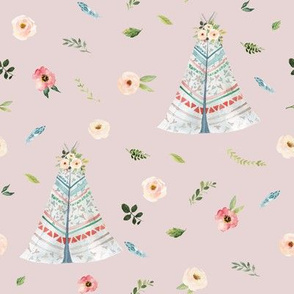 """8"""" Woodland Floral Teepee // Wafer"""