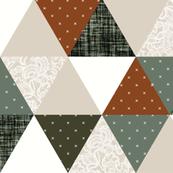 emma's triangle wholecloth // lace