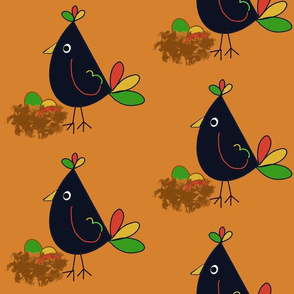 Bird and eggs