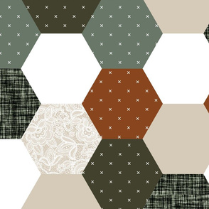 emma's hexagon wholecloth // lace