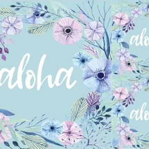Aloha Mint Wreath Blanket + 2 Loveys