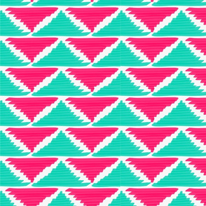 Native American Arrows Pink on Turquoise