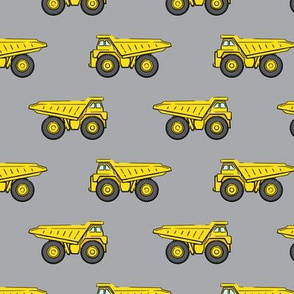 dump trucks - grey - construction