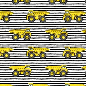 dump trucks - black stripes - construction