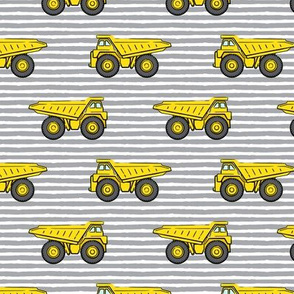 dump trucks - grey stripes - construction