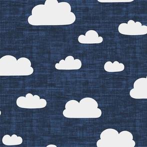 Clouds Navy Blue Texture