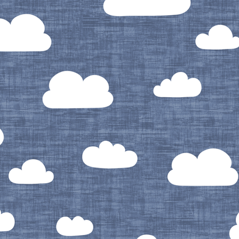 Clouds Indigo - Texture fabric by kimsa on Spoonflower - custom fabric