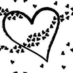 fryingheart black&white