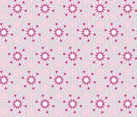 Pink and Yellow Pattern 2 fabric by qurratl's on Spoonflower - custom fabric