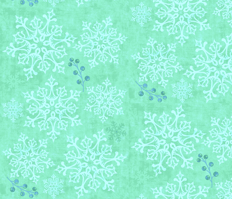 Snow queen (Snedronningen) fabric by theitsiegypsy on Spoonflower - custom fabric