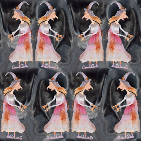 GRISELDA WITCH LABYRINTH CAVES fabric by paysmage on Spoonflower - custom fabric