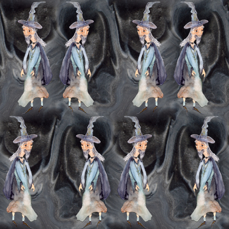 MERLIN WIZARD LABYRINTH CAVES fabric by paysmage on Spoonflower - custom fabric