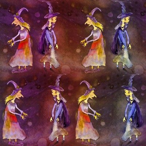 MERLIN WIZARD GRISELDA WITCH HALLOWEEN rainbow purple orange PSMGE