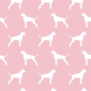 Boxer Dogs on pink
