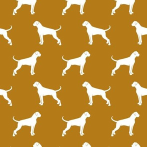 Boxer Dogs on dark mustard