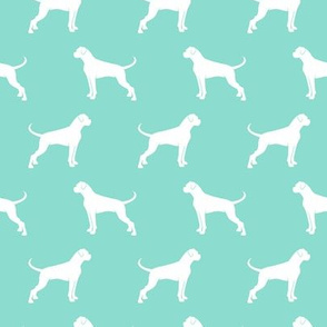 Boxer Dogs on dark mint