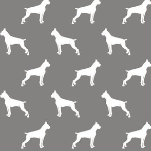 Boxer Dogs on dark grey - cropped ears & docked tail