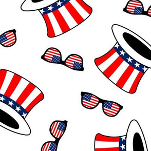 uncle sam top hats and shades white