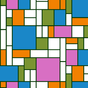 Mondrian - inspired butterfly garden