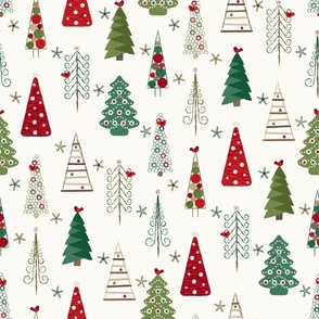 Scandinavian Christmas Trees Classic