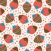 chocolate dipped strawberries seamless pattern