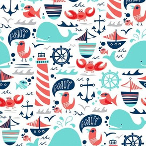 Ahoy Matey - Summer Nautical Medium Scale