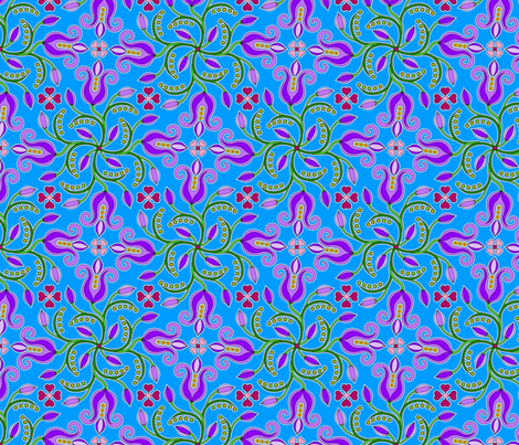 Icelandic flowers fabric by enid_a on Spoonflower - custom fabric