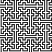 Simple black & white islamic pattern