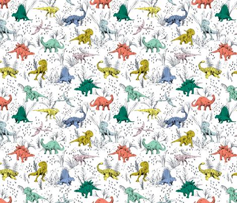 DINO POP_MINI fabric by pattern_state on Spoonflower - custom fabric