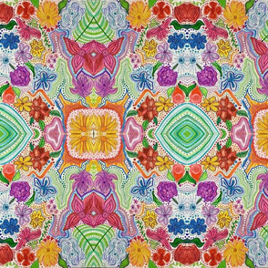 Abstract garden flowers