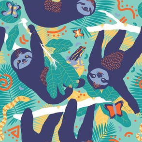 Swingin' Sloths in Jungle Green