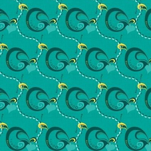 sixties shapes teal