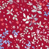 Winter Wildflowers - Red