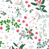 Winter Wildflowers - White