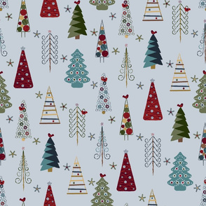 Scandinavian Christmas Trees Vintage HD
