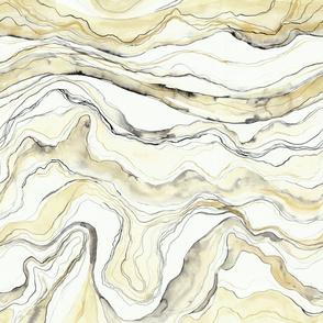 Marbled watercolor light yellow