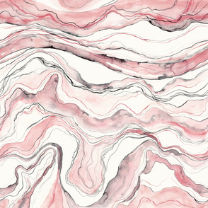 Rose marble, marbled watercolor stone texture