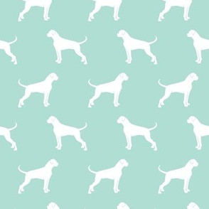 Boxer Dogs on aqua