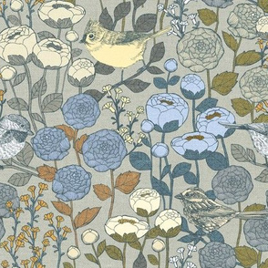 Winter Garden {Frost Linen} - medium scale