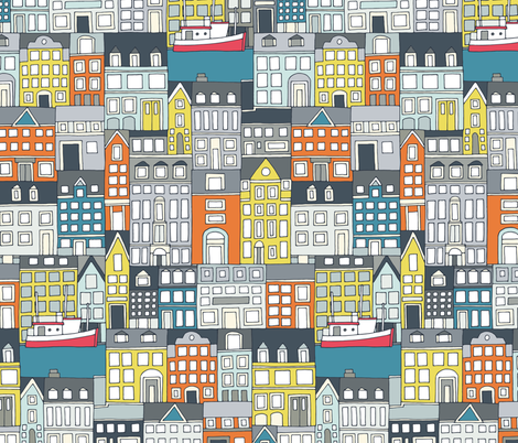Copenhagen fabric by scrummy on Spoonflower - custom fabric