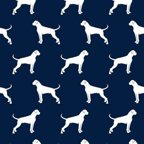 Boxer Dogs on navy